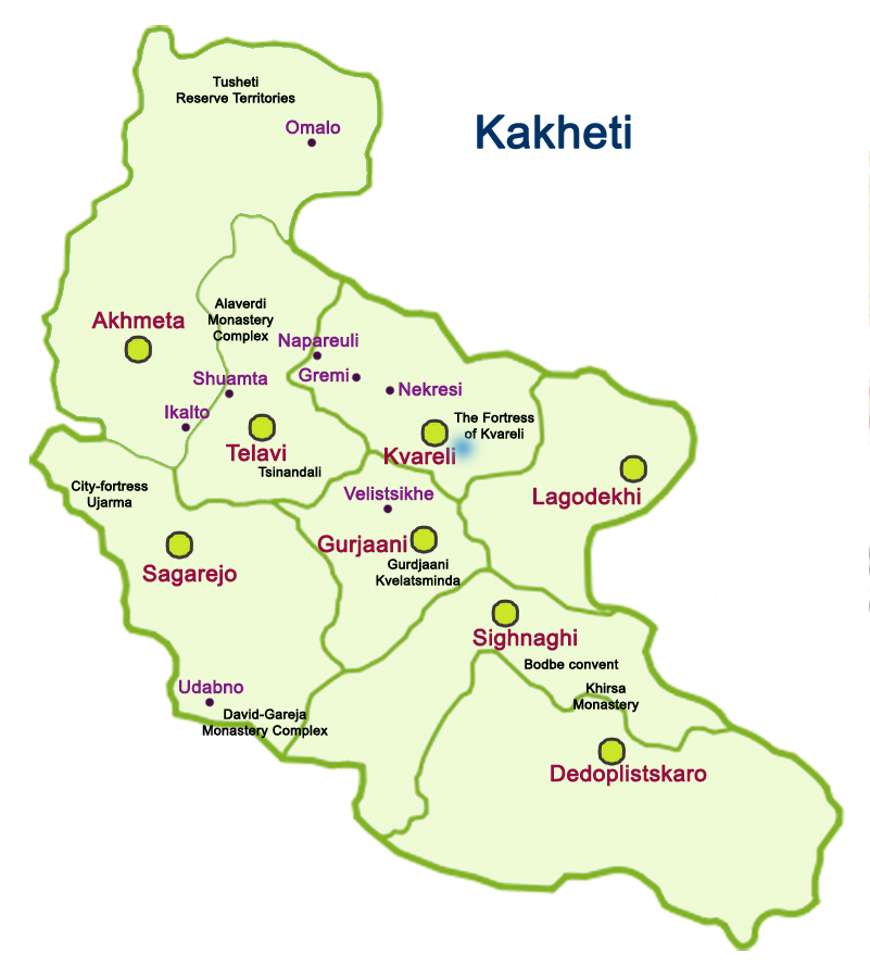 Map of Kakheti