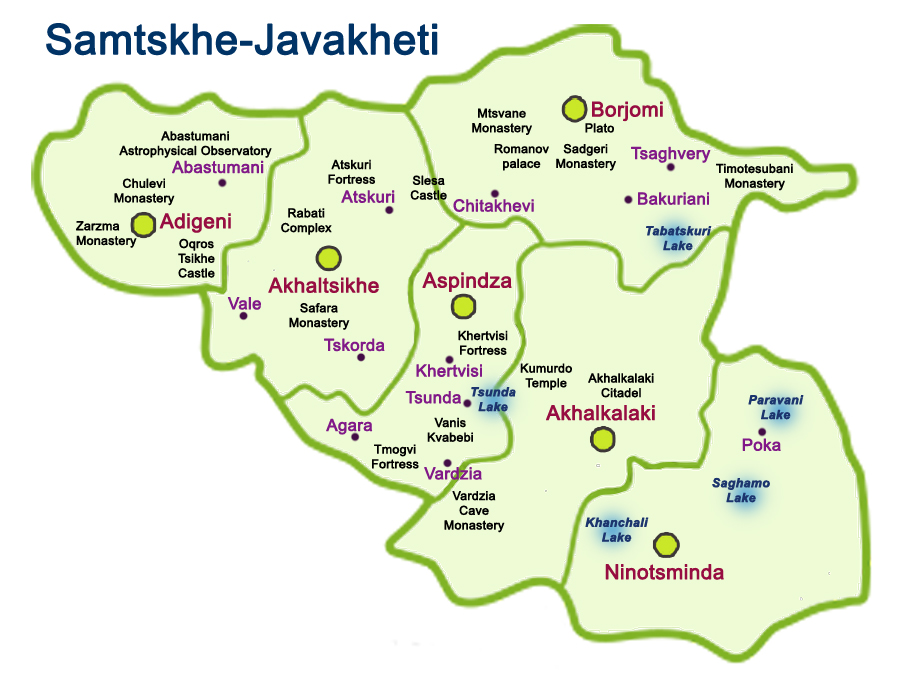 Map of Samtskhe-Javakheti